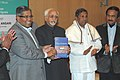 "The Vice President, Shri Mohd. Hamid Ansari releasing the book entitled ""The Indian Parliament A Democracy at Work"", written by Dr. B.L. Shankar and Prof. Valerian Rodrigues, in New Delhi on January 19, 2011.jpg"