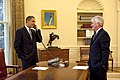 The White House Counsel Greg Craig and President Obama talk to Retiring Supreme Court Justice David Souter.jpg