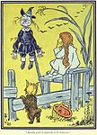 The Wonderful Wizard of Oz, Dorothy gazed thoughtfully at the Scarecrow.jpg