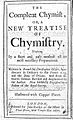 The compleat chymist, or, a new treatise of chymistry Wellcome L0001157.jpg