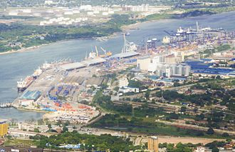 Port of Dar es Salaam - An aerial view of The Dar es Salaam Port during the day time.