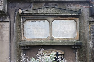 Henry Jardine - The grave of Sir Henry Jardine, Canongate Kirkyard, Edinburgh