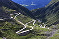 The old road winding over St. Gotthard pass (el. 2106 m. or 6,909 ft.) high in the Swiss Alps.JPG