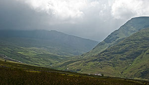 Geography of Wales - Rain coming in from the west in Snowdonia