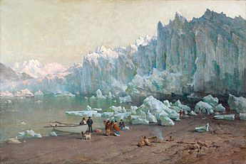 Thomas Hill. Muir Glacier, Alaska. Oakland Museum of California.jpg