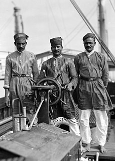 Lascar sailor or militiaman from India or south Asia