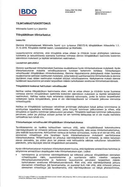 File:Tilintarkastuskertomus 2018 Risto Ekholm.pdf