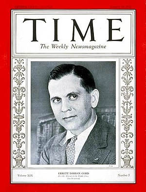 Errett Lobban Cord - Errett Lobban Cord on the cover of Time Magazine, January 18, 1932