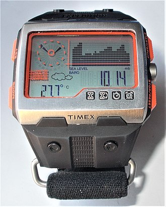 Barometer - Timex Expedition WS4 in Barometric chart  mode with weather forecast function.