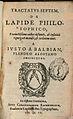 Titelblad Tractaus Septum door Joost Balbian (1543-1616).jpg