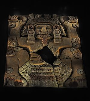 Tlaltecuhtli - Tlaltecuhtli monolith found in 2006 during excavations in the Historic Center of Mexico City.