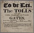 To Be Let The Tolls Cribbin, Llanfihangel and Pencader Gates 1826.jpg
