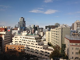 Tokyo Dome City - Tokyo Dome City Looking from the East near Suidōbashi Station