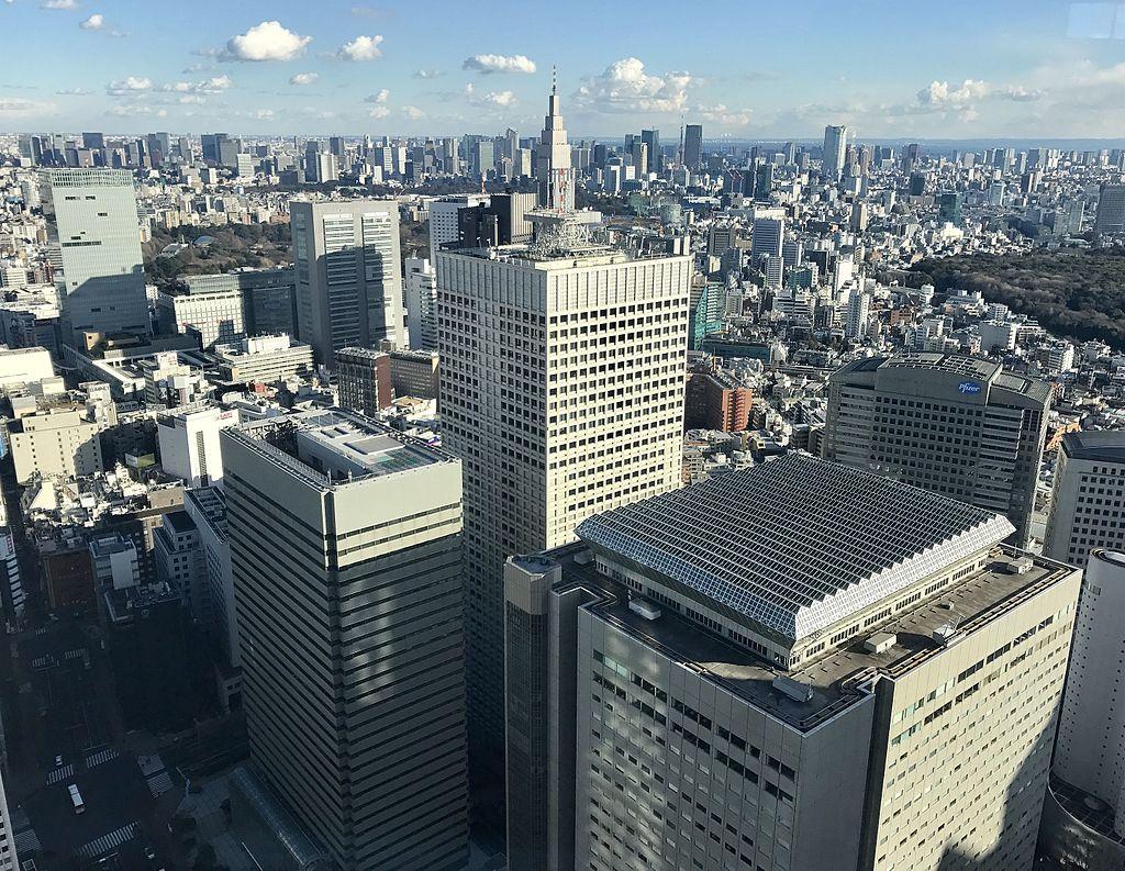 Tokyo skyline 2017