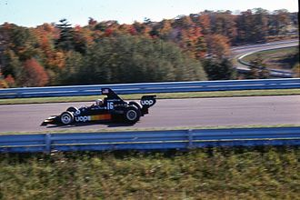 Watkins Glen International - Tom Pryce at the 1975 United States Grand Prix in the Boot's main straight