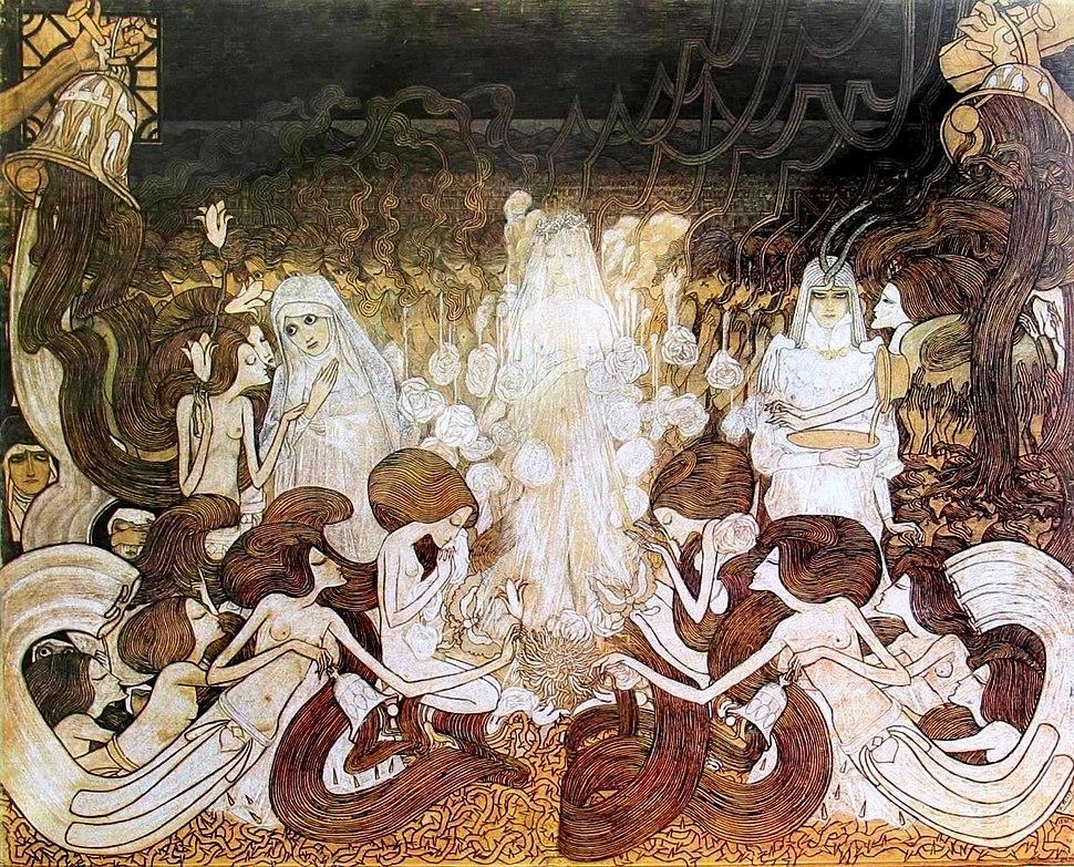 Toorop, De drie bruiden, 78x98 non bruid helbruid