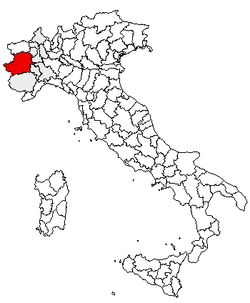 Location of Province of Turin