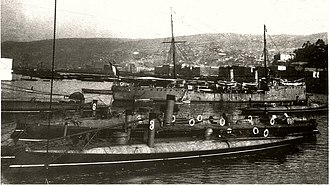 Torpedo boat - Chilean torpedo boats in Valparaíso, used successfully at the Battle of Caldera Bay during the 1891 Chilean Civil War.