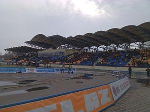 Torpedo Stadium (Zhodino) - Image: Torpedo stadium Zhodino west stand 03
