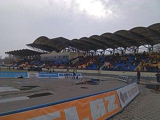 2016 UEFA Women's Under-17 Championship - Image: Torpedo stadium Zhodino west stand 03