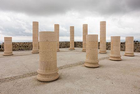 The basilica in Torreparedones Archaeological Park (Spain)