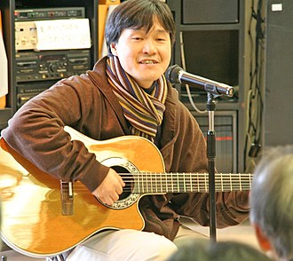 X Japan - Toshi at a solo acoustic show in 2005.