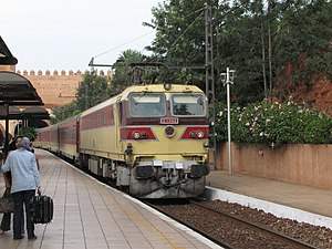 Inter-city rail - A Moroccan Inter-city train at Rabat station
