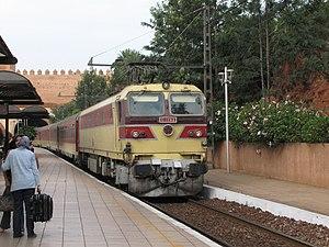 Inter-city rail - A Moroccan Inter-city train at Rabat station