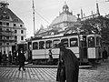 Tram on Karlsplatz (Stachus) in Munich, Germany (6082290580).jpg