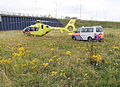 Traumaheli and policewagen.jpg