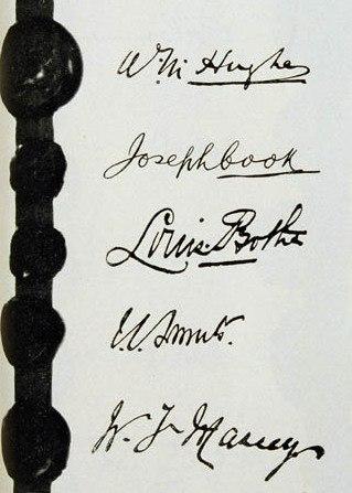 Treaty of Versailles signatures - Australia, South Africa, New Zealand