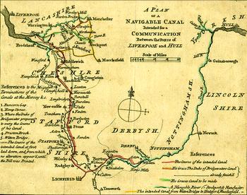 Trent And Mersey Canal Map Trent and Mersey Canal   Wikipedia Trent And Mersey Canal Map