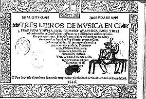 Alonso Mudarra - Image: Tres libros de música en cifra para vihuela