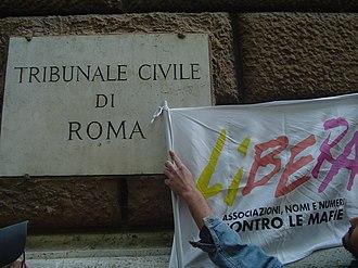 Libera. Associazioni, nomi e numeri contro le mafie - A protest by Libera in Rome in 2007