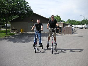 Human-powered transport - Trikkes by shifting the rider's body weight