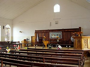 Christianity in the Gambia - Interior of Trinity Methodist church, Serrekunda