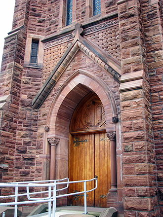 Trinity Episcopal Church (Potsdam, New York) - Image: Trinity Episcopal Church, Potsdam, New York detail