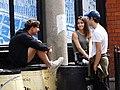 Trio of Youths in Street - City Center - Dublin - Ireland (29643513448).jpg