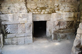 Yagul - One of three tombs found within a chamber.