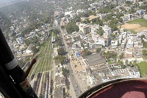 Thampanoor - Aerial view of Thampanoor, towards the north