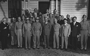 Fort Crowder - Senator Harry S. Truman at Camp Crowder.