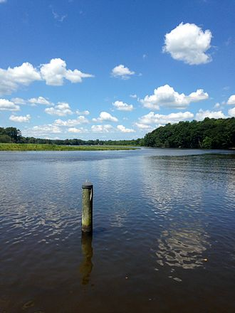 Tuckahoe Creek - The Tuckahoe Creek viewed from Denton, Maryland