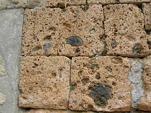 Tuff - Etruscan tuff blocks from a tomb at Banditaccia