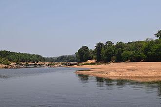 Tunga River - River Tunga near Chibbalagudde, Thirthahalli