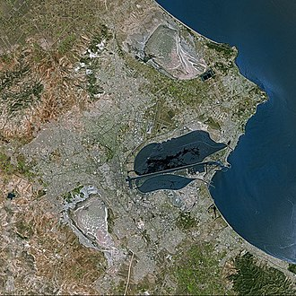 Tunis vu par le satellite SPOT