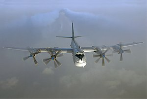 Powered aircraft - A turboprop-engined Tupolev Tu-95