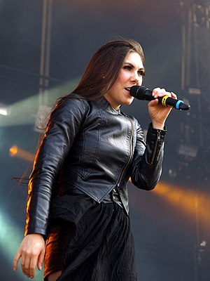 Elize Ryd - Ryd live with Amaranthe at the Tuska Open Air Metal Festival, 2013