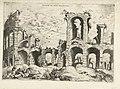 Tweede gezicht op het Colosseum te Rome Collossæi ro alivs prospectvs (titel op object) Romeinse ruïnes (serietitel), RP-P-1882-A-6438.jpg