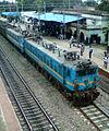 Twin WAG7 series locos at Lingampalli.jpg