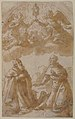 Two Male Saints Kneeling with Angels Holding a Reliquary. MET 59.644.42.jpg